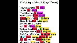 Kool G Rap - Cakes Rhyme Scheme