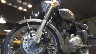 5. NEW ROYAL ENFIELD BULLET 500 BS-IV AHO MARSH GREY COLOR WALK AROUND REVIEW