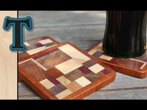 Woodworking - This easy woodworking project would be a great use for scrap wood one has in the woodshop. These fun coasters or drink mats would make a great and cheap gift...
