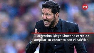 Diego Simeone negocia con el Atlético de Madrid la ampliación de su contrato, por el momento se ha ampliado un año pero los colchoneros lo quieren por más tiempo.