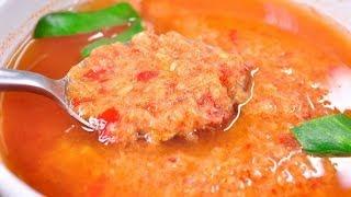 [Thai Food]  Rice Vermicelli With Fish Jungle Curry Sauce (Kanom Jeen Nam Ya Pa)
