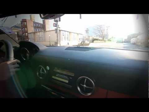 Mercedes SLS AMG | Launch ! Ride along shotgun - acceleration exhaust ! Sound