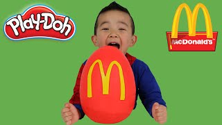 McDonalds Play-Doh Surprise Egg Happy Meal Toys Angry birds Pokemon Snoopy Ninja Turtles Minions