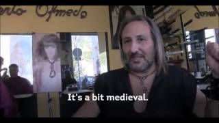 Olmedo Spain  city images : Alberto Olmedo cuts hair in Madrid,Spain using medieval tools