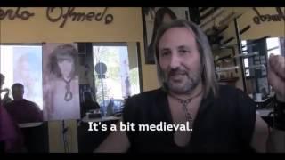 Olmedo Spain  city photos : Alberto Olmedo cuts hair in Madrid,Spain using medieval tools