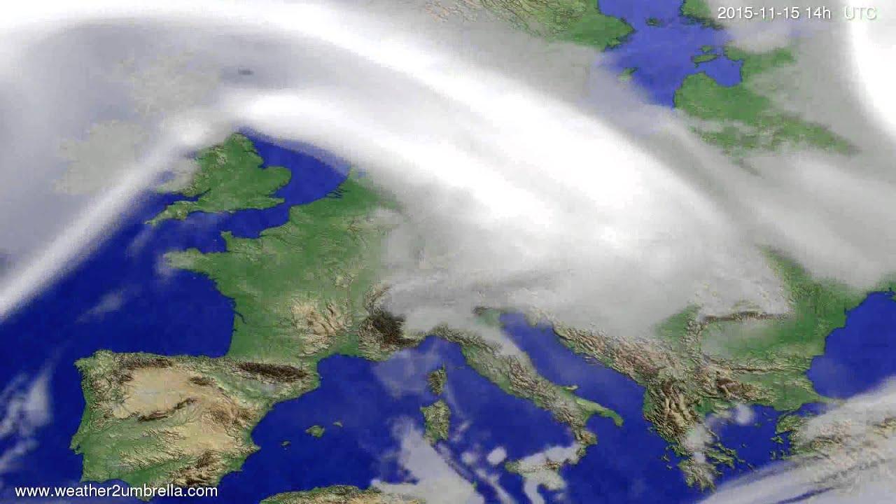 Cloud forecast Europe 2015-11-11