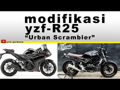 modifikasi yzf R25 - Urban scrambler