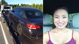 Tara gets a flat tire on the highway and needs her lowered BMW 335i towed carefully. Then the flat tire is replaced at the tire shop.Thanks to Pat at 10-10 Tires for letting me film :)Music: Anguish by Kevin MacLeod and Sugar by Vibe Tracks