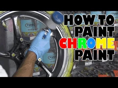 How to paint chrome paint