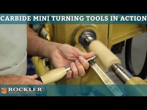 Rockler Carbide Mini Turning Tools in Action