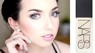 NARS ALL DAY LUMINOUS WEIGHTLESS FOUNDATION REVIEW & DEMO | Pale acne prone skin