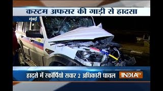 Custom Officer's Scorpio collides with  Police Van in Mumbai, 2 injured