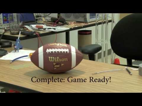 Magneto-Track System: Assembly of the transmitter in the football