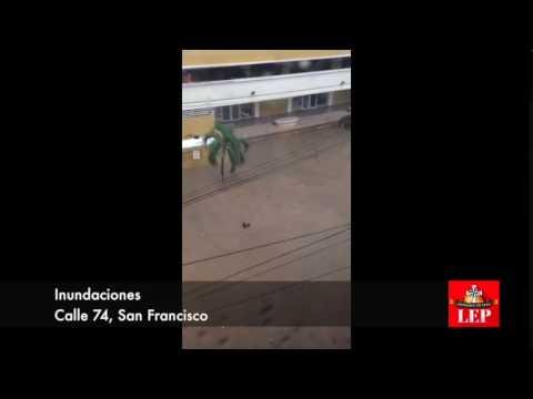 Inundaciones en la ciudad de Panamá.