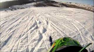 8. 01 zr 440 sno pro and 97 arctic cat panther 550 having fun