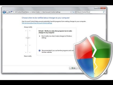 How to Disable/Change the UAC on Windows 7
