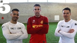 Freestyle-Tricks mit Robin van Persie