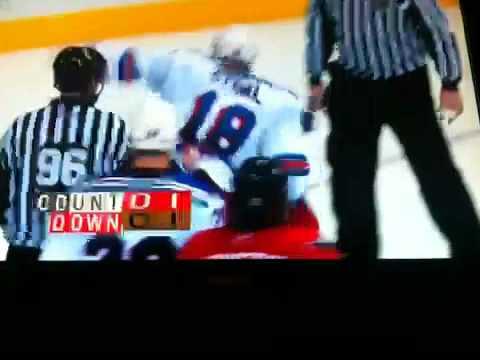 NHL HOCKEY FIGHT: man vs. little girl