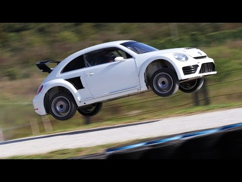 Rallycross VW Beetle Racecar LOUD Sound [HD]