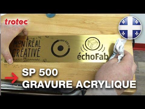 Gravure d'une plaque de laiton | Montreal Creative | echoFab (видео)