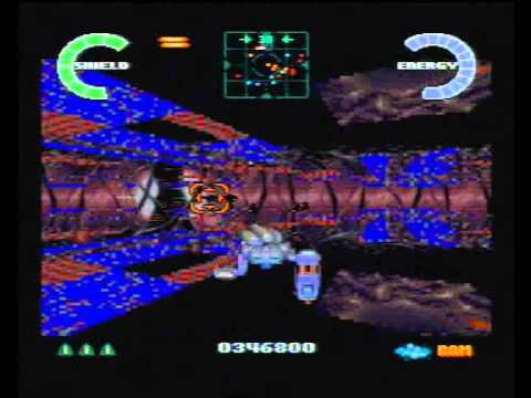 Atari Jaguar SoulStar 'egg room' level before fixing.