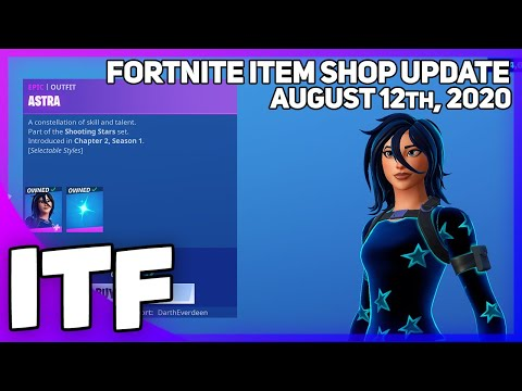 Fortnite Item Shop ASTRA IS BACK! [August 12th, 2020] (Fortnite Battle Royale)