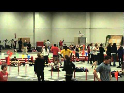 Men's High Hurdles at MIT: Matt Sullivan 1st, Jabulani Blyden 2nd