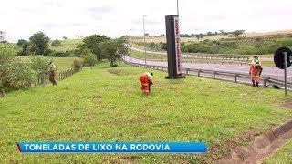 Cerca de 11 toneladas de lixo são retiradas das rodovias da região