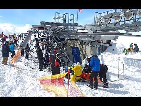 ЧП на канатке: в горах Грузии подъёмник «сошёл с ума»