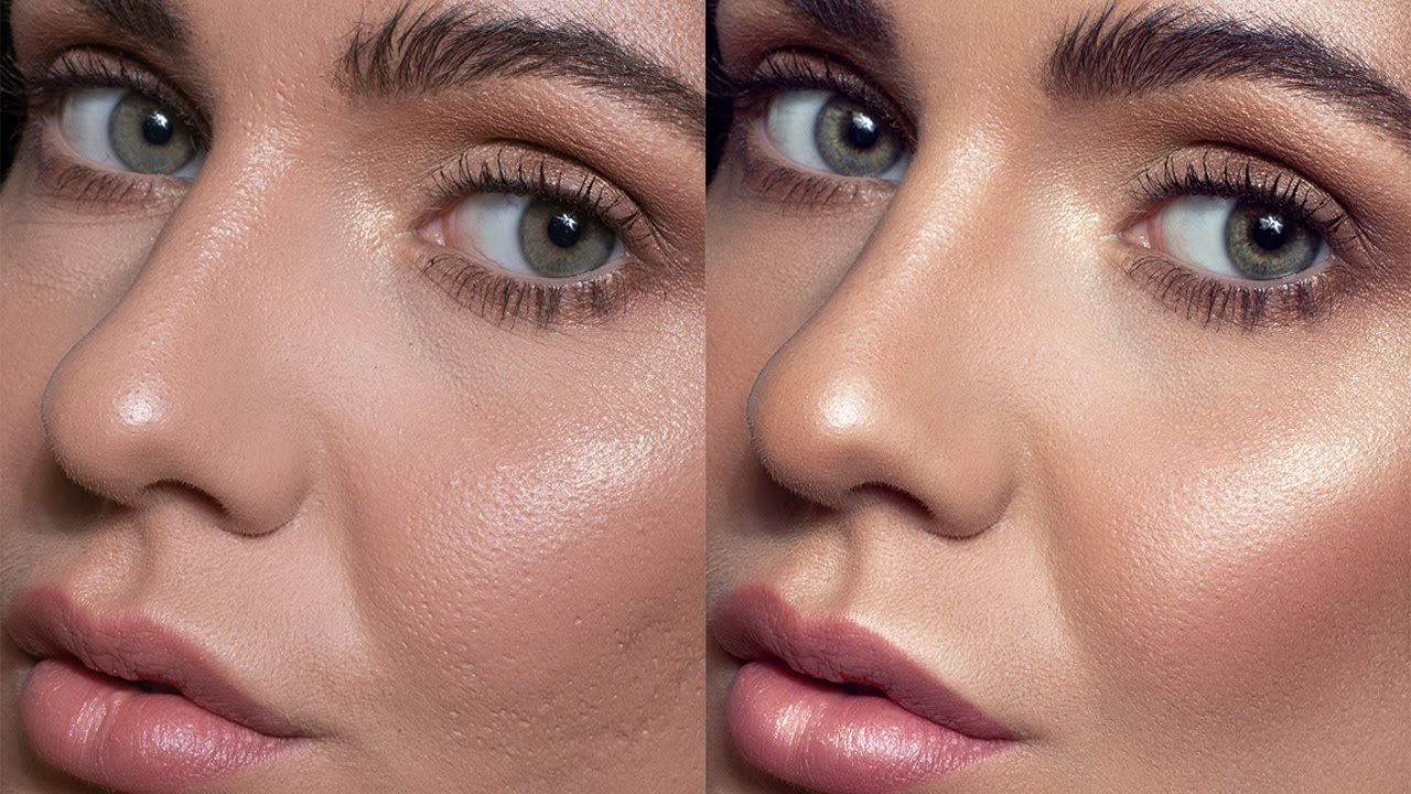 photo retouching tutorial skin using dodge and burn