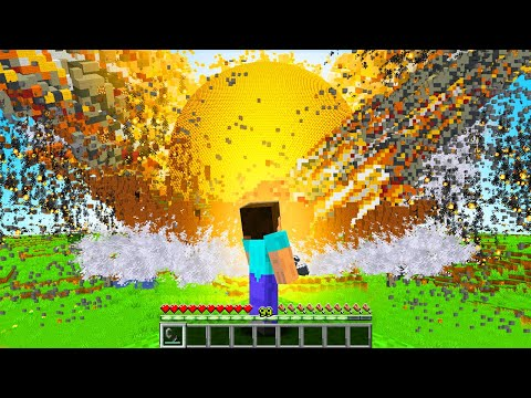 EXPLODING Extreme MODDED TNT in Minecraft!