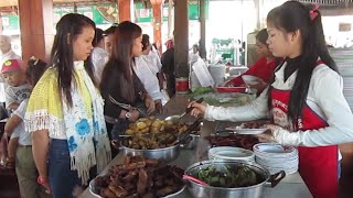 Kampong Cham Cambodia  city photo : Breakfast at Skun in Kampong Cham Province of Cambodia