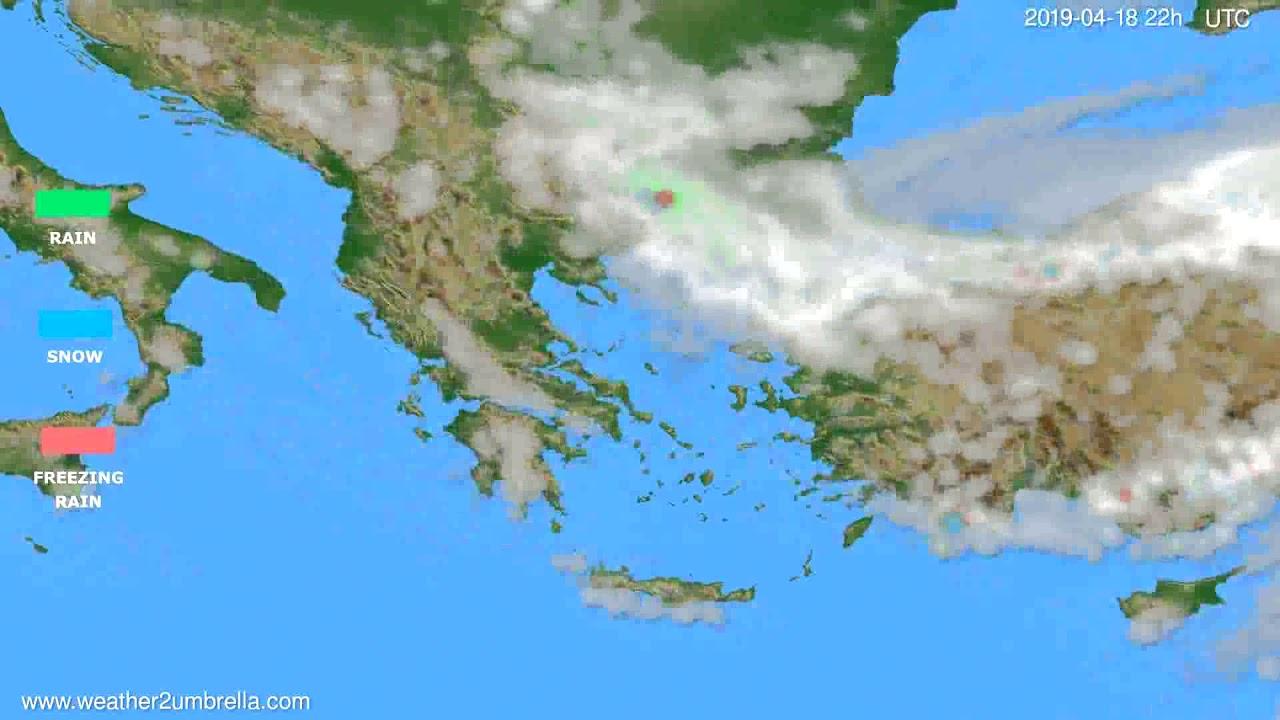 Precipitation forecast Greece // modelrun: 00h UTC 2019-04-16