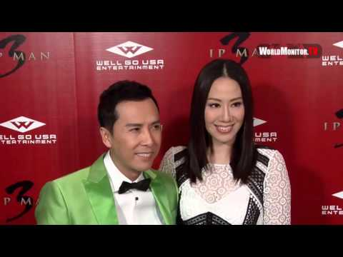 'Donnie Yen' kung fu grandmaster arrives at 'Ip Man 3' LA film premiere Red Carpet