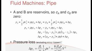 Revision Lecture Part 6 - Fluid Machines