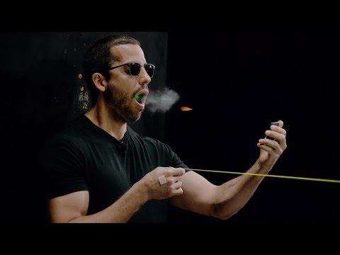 David Blaine catches a bullet in his mouth   David Blaine