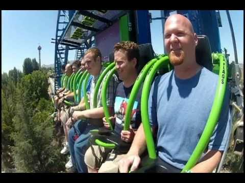 six flags magic mountain - MiceChat takes you for a ride on the newest thrill ride at Six Flags Magic Mountain, Lex Luthor: Drop of Doom. Ride includes a full POV with the In The Parks...