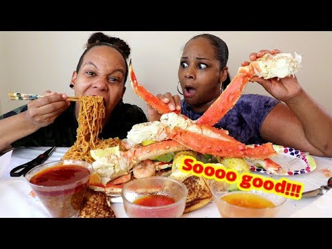 King Crab Seafood Boil and Ramen Mukbang먹방  | Eating show - Thời lượng: 21 phút.