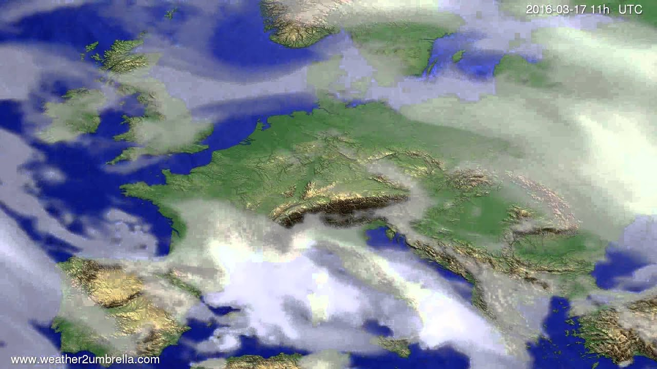 Cloud forecast Europe 2016-03-14
