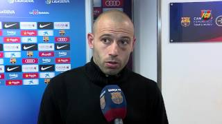 Mascherano and Neymar reaction to win over Real Sociedad, neymar, neymar Barcelona,  Barcelona, chung ket cup c1, Barcelona juventus