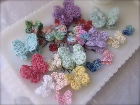 uncinetto - farfalle 3d per principianti