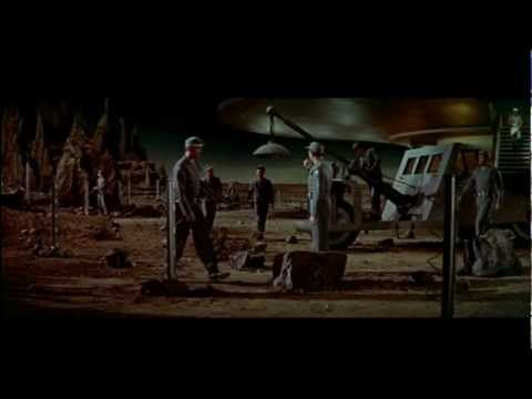 FORBIDDEN PLANET- ID MONSTER SNEAKS ABOARD THE C-57D Flying Saucer AND KILLS HD
