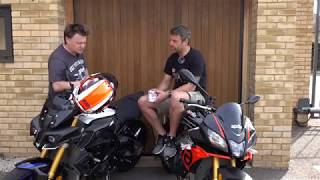 8. 2019 Aprilia RSV4 1100 Tuono vs Yamaha MT10 SP Ride Review   Keep Britain Biking
