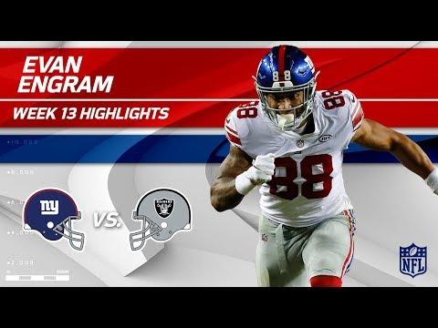 Video: Evan Engram's 1 TD & Amazing One-Handed Catch vs. Oakland! | Giants vs. Raiders | Wk 13 Player HLs
