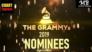 Grammy's 2019 - Nominees   The 61st Grammy Awards 2019   Feb 10th, 2019   ChartExpress