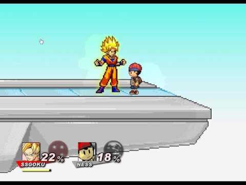 Super Smash Flash 2 - Como jogar com o goku