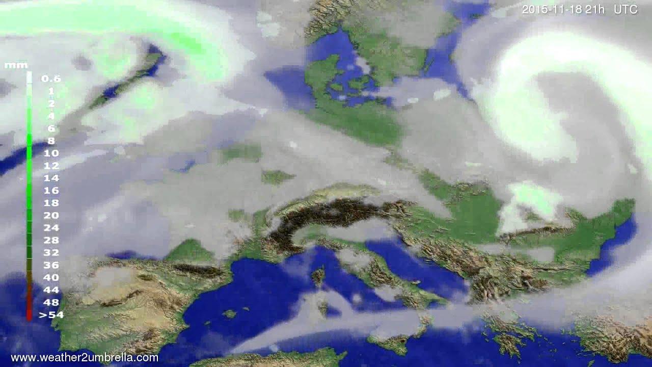 Precipitation forecast Europe 2015-11-15