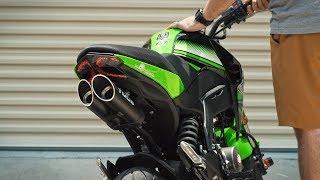 10. Kawasaki Z125 Toce Full Exhaust Sound!
