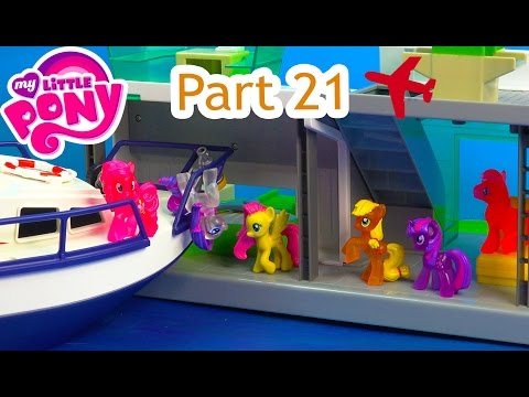 Shopkins MLP Airplane Airport Boat Crash My Little Pony 21 Twilight Pinkie Pie Series Video