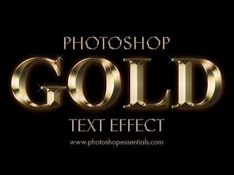Photoshop Gold Text Effect